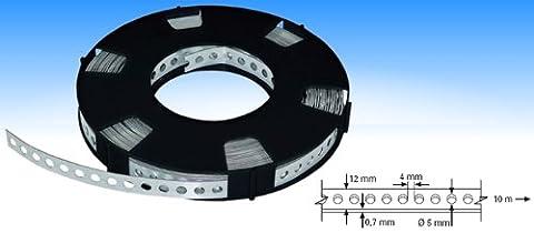 Industrie-Montageband / Lochband verzinkt 12mm x 0,7mm x