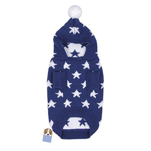 Weihnachten Winter Hunde Sweater Pullover Hundbekleidung (XXL, Blue) - 2