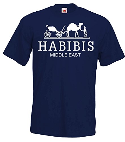TRVPPY Herren T-Shirt Modell HABIBIS, Navyblau, S