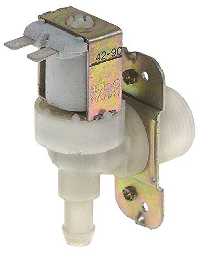 Magnetventil 120VAC 1-fach max. Temperatur 60°C Ausgang 11,5mm DN10 gewinkelt Eingang 3/4' 16l/min (Magnetventil-120v)