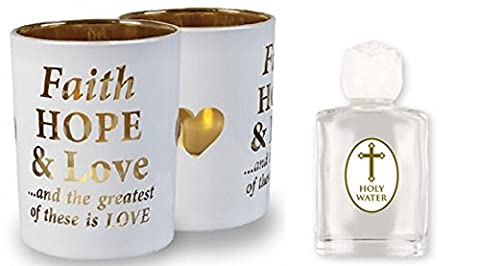 Lourdes Holy Water & Faith Candle with Prayer Card to Someone Special.