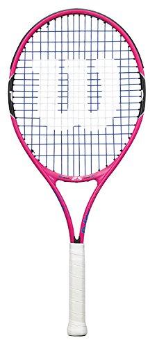 Wilson Raquette de Tennis pour Filles, Burn Pink 25, Taille 9-12 ans, Rose/Noir/Bleu,...
