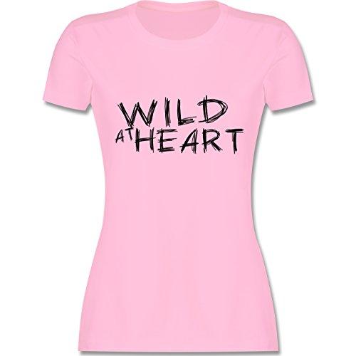 Festival - Wild at heart - tailliertes Premium T-Shirt mit Rundhalsausschnitt für Damen Rosa
