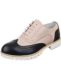 Ital-Design - Zapatos Planos con Cordones Mujer