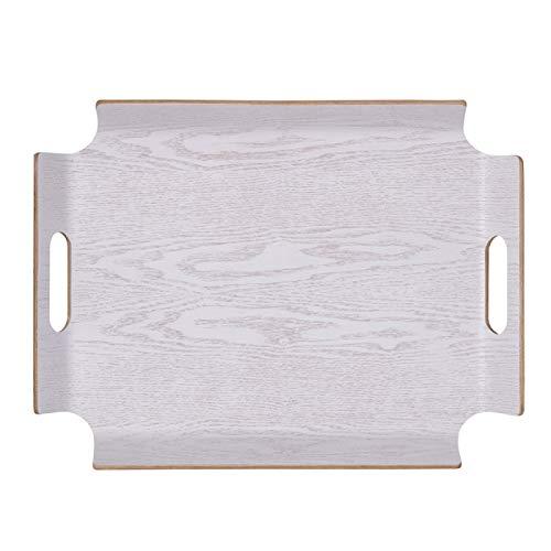 Plateau rectangle 44.5 x 34 cm No Angle blanc