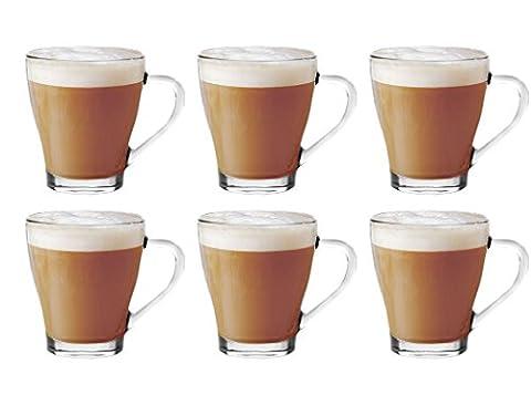 Lot de 6)-Discount PacK ****en verre pour thé, café Latte/Cappuccino
