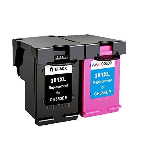 Ouguan pour HP 301 301XL 2 Cartouches d'encre compatibles avec HP DeskJet Imprimante