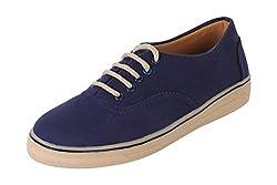 Quarks Mens Blue Outdoor Canvas Casual Shoes