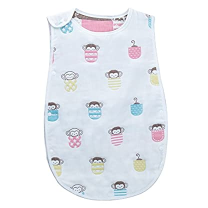 ZOEON Saco de Dormir Infantil para Bebé 6-12 Meses Usable Manta para Verano