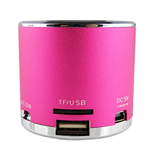 Malloom-Reproductor-MP3-TF-tarjeta-Micro-SD-Wireless-USB-Radio-FM-Mini-Altavoz-porttil-rosa-caliente