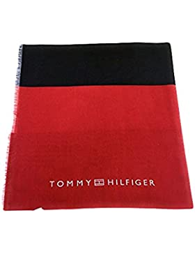 Tommy Hilfiger Tuch Honey Stripe Scarf AW0AW03872 901 Turtledove / Red / Navy