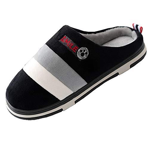 Pantofole inverno scarpe casa cotone donna uomo ciabatte invernali caldo vello foderato calzature interno slippers piattaform grigio 34/35