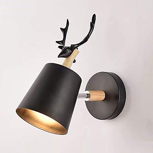 XINYANSEE Creativo Apliques de Pared Moderno Luz de Pared Lámpara de Pared Hierro Base E27 Estilo Cabeza...