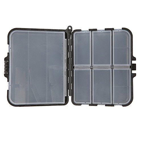 Tackle Box boitier - SODIAL(R)LEO Portable peche leurre boite cuillere crochet boite Crankbait & s'attaquer a boitier plastique 9 compartiments de rangement
