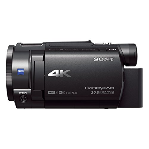 Sony FDR-AX33BDI Ultra HD 4K Compact Camcorder (Balanced Optical SteadShot, Wi-Fi and NFC) - Black