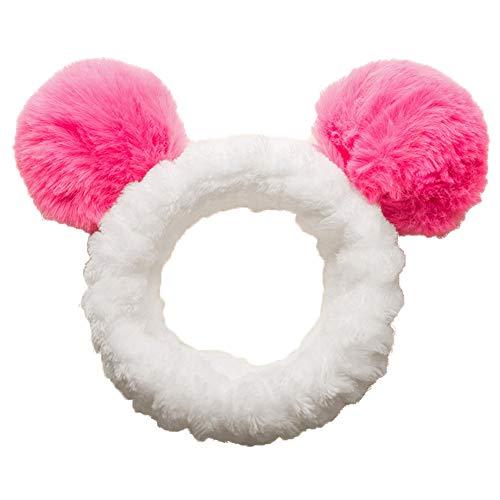 Risxffp incantevole ragazze felpa 2pompon fascia per capelli morbido, testa di doccia, cappotto, cappello maschera rifornimento, decorazione rosa rossa