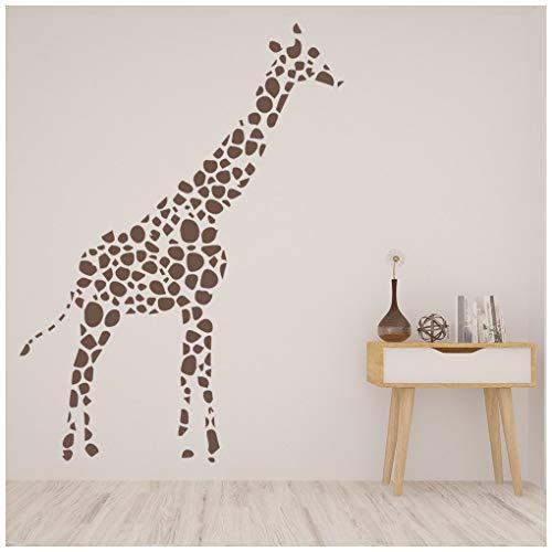 azutura Sport Giraffe Safari Tiere Wandtattoo verfügbar in 5 Größen und 25 Farben Licht Orange -