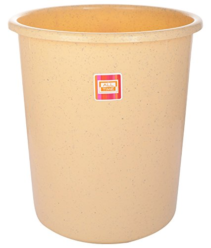 All Time Plastic Waste Paper Basket, Granite Biscuit