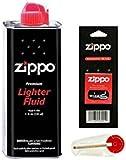 Zippo Lighter Fluid Fuel Petrol 125ml Tin + Wick + 6 Flints