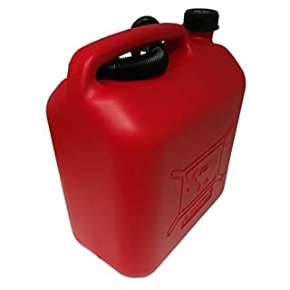 coamer bg20l Plastic Jerry Can for Petrol, Red, 20Litres