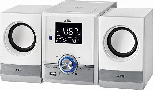 Bluetooth Stereoanlage Kompaktanlage USB-Port AUX-IN CD/MP3 Radio Musikanlage Wecker Farbe: weiß (Fernbedienung + LCD-Display)