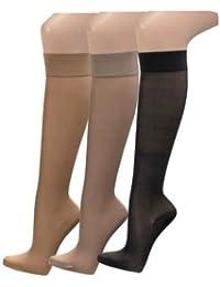 2 Paar Stützkniestrümpfe Reisestrümpfe für Damen
