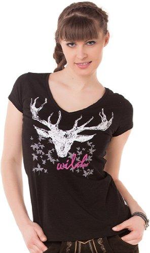 Sexy Trachten Shirt JEAN von Hangowear in trendigen Farben, Größen:XS;Farben:schwarz (Sexy Damen Trachten Shirt)