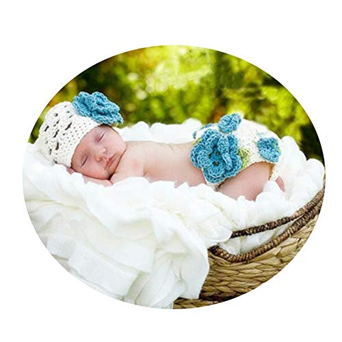 Baby Kostüm Foto Baby Kostüm Prop Cute Newborn Boy Girl Baby Kostüm gestrickt Fotografie Requisiten Hut (Farbe : Weiß, Größe : S) (Cute Boy Kostüm)