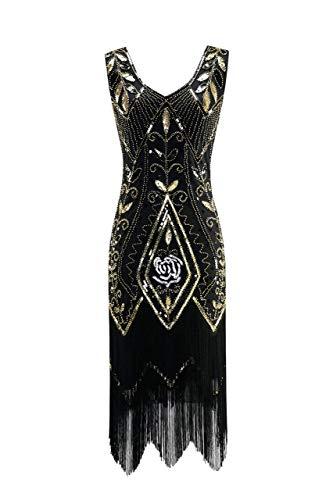 Metme Damen der 1920er Jahre Vintage Fringe Perlen großer Gatsby ()