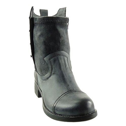 Angkorly Chaussures Fashion Bottines Bottes Bottes Bottines Style Cavalier Cavalier 61f6ae
