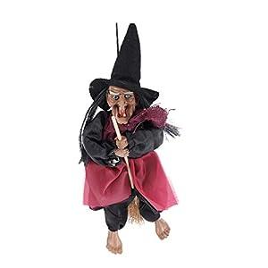 IMIKEYA Bruja Colgante de Halloween,