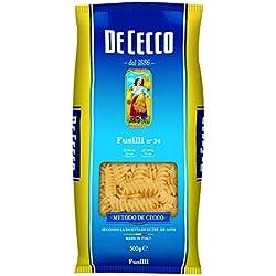 De Cecco Fusilli Pasta di Semola di Grano Duro, N. 34 - 500 gr