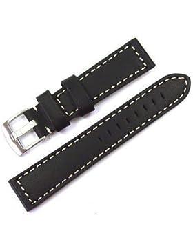 Original WCC® Armband Leder (schwarz) Bandanstoß 22 mm
