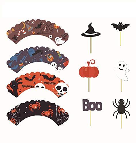 Halloween-Dekoration, Kuchen Dekoration Hut Und Urlaub Party-Vorräte, Foto-Requisiten Handwerk, 3 Sets