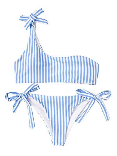 heekpek Maillot de Bain 2 Pieces Femme Taille Haute Grande Taille Vintage Bandeau Bikini Push U