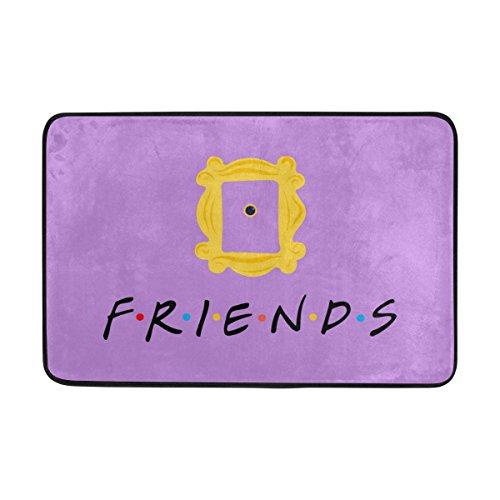 Naanle Eingang Fußmatte Friends TV Show-Karte Decor Teppich Fußmatte 23,6(L) X 39(W) Zoll Rutschfest Home Decor