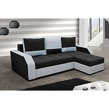 Eckcouch  Ecksofa Aris mit Bettfunktion Eckcouch Schlaffunktion Sofa Couch ...