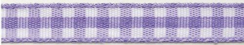 Rouleau de coton vichy violet et blanc