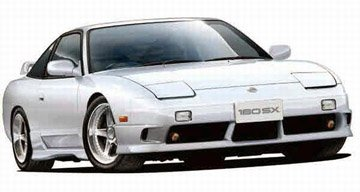1/24 '96 Nissan 180SX Type-X (Auto Model Kit Nissan)
