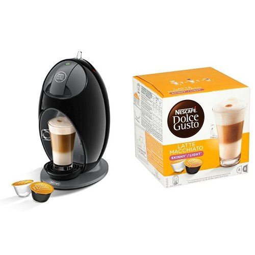 Price comparison product image Nescafé Dolce Gusto Coffee Machine Jovia Manual Coffee with Skinny Latte Machiato, 16 Capsules - Pack of 3 (48 Capsules)