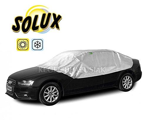 Halbgarage Autoabdeckung Solux für Winter und Sommer (L Sedan)