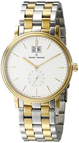 Claude Bernard Men's 64011 357J AID Classic Gents Analog Display Swiss Quartz Two Tone Watch