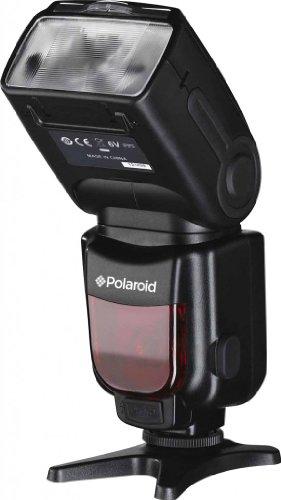Polaroid PL-190N GN54 Wireless TTL Auto Power-Zoom mit neig- und drehbarem Blitzkopf und LCD Display für die Nikon D40, D40x, D50, D60, D70, D80, D90, D100, D200, D300, D3, D3S, D700, D3000, D5000, D3100, D3200, D7000, D7000, D5100, D5200, D4, D800, D800E, D600, P7700, P7100 Digitalen Spiegelreflexkameras mit gefedertem und schwenkbarem Blitzkopf - Nikon D3200 Flash-kit Für