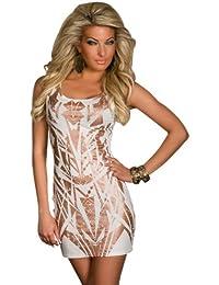 4473 Minikleid aus feinem Stretch-Stoff dress robes in 3 Farben verfübar