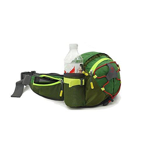 asdomo Taille Pack Leichte Reise Bauchtasche Running Gürtel Sport Jogging Reißverschluss Taille Tasche für Laufen Reisen Radfahren Wandern Camping Hund Walking Rot