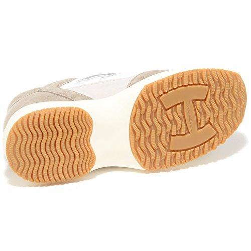 3827I sneakers bimbo HOGAN JUNIOR interactive h flock scarpe shoes kids tortora/bianco