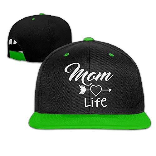 Xukmefat Mom Life Unisexe Hip-Hop Flat Bill Snapback Caps Casquettes De Baseball Réglables pour Femmes Hommes 0845