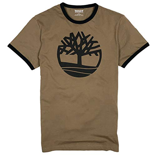 Timberland Men's Short Sleeve Tree Logo Ringer T-Shirt -
