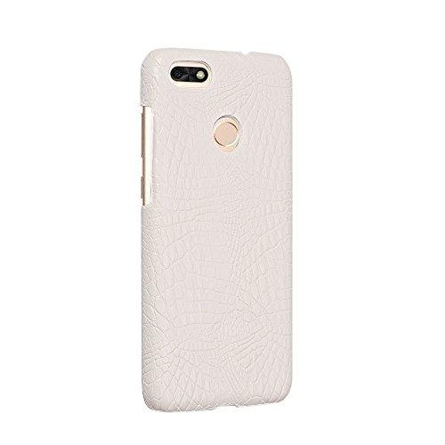 YHUISEN Luxus Klassisches Krokodil Haut Muster [Ultra Slim] PU Leder Anti-scratch PC Schutzhülle für Huawei P9 Lite Mini / Y6 Pro 2017 (5,0 zoll) ( Color : Black ) White