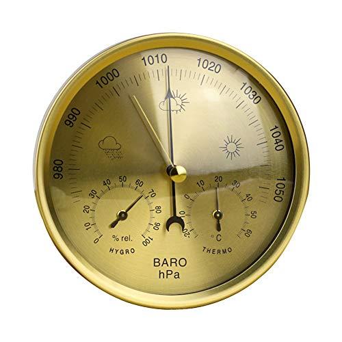 Barómetro 3 en 1 indicador de vidrio resistente a la intemperie termómetro higrómetro multifuncional...